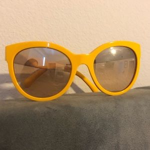 Chanel Le Boy Sunglasses Yellow
